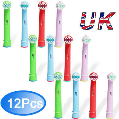 12 Toothbrush Heads Fit For Oral B Stages Power Kid Electric Teeth Brush UK Gift
