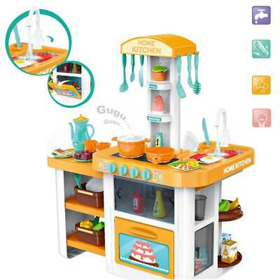deAO Little Chef Kitchen Playset with Light, Sound, Water Features & Accessories