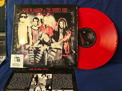 Marilyn Manson Spooky Kids Live 1992 Colored Insert Lp Limited Mint