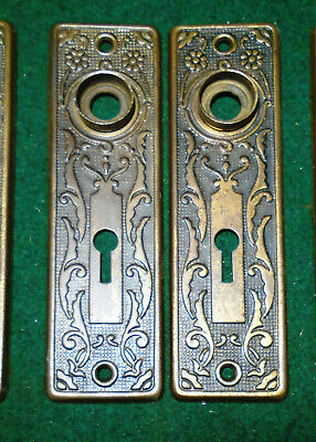 Pair  Vintage Victorian Eastlake Backplates: Norwalk Circa 1890 (13345)