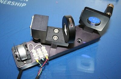 "Newport New Focus 9807 Kinematic Mirror Mount, 1"" Dia w/Opto Sigma &Holder Motor"