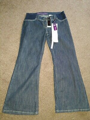 "Next Kick Flare Dark Blue Under Bump Maternity Jeans Size 10 S W32"" L29"" - Bnwt"