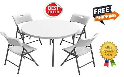 Lifetime 60 In Commercial Folding Round Table White