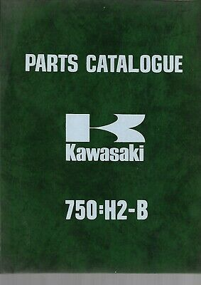 Parts List KAWASAKI 750-H2-B Catalogue de Pièces PARTS LIST en anglais