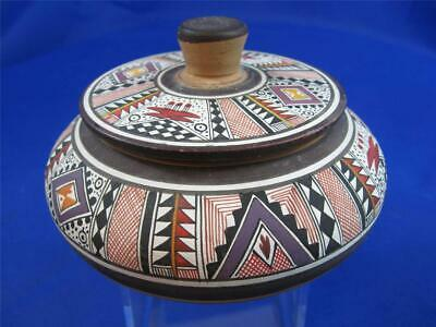 South American Covered Pot from Peru  {14-37}