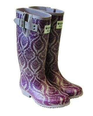 Briers Baroque Rubber Wellington Boots Ladies UK Size 8