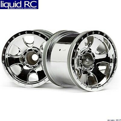 Hobby Products Intl pair 33462 Lp29 Wheels Atg Rs8 chrome 12mm hex