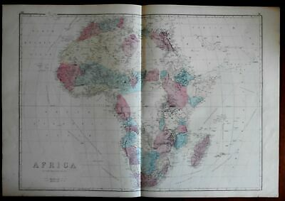 African Continent 1875 Weller large detailed map interior being unveiled