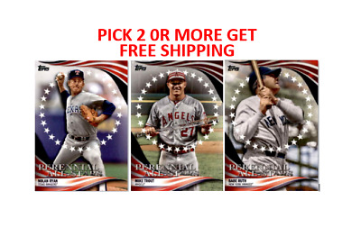 2019 Topps Update Perennial All-Stars Singles Pick 2 or More Get Free Shipping