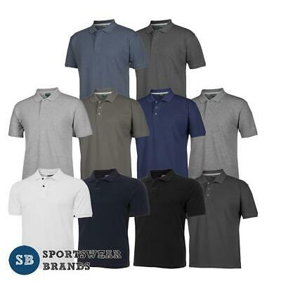 Mens Colour of Cotton Polo Pique Shirt Casual Classic Fit Top Office New S2MP