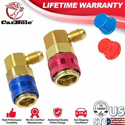 R134a Air Conditioning Adapter Fittings Quick Change Coupler Connector ACME Car