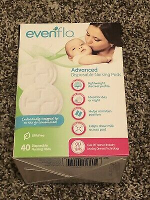 New Sealed 160 Evenflo Advanced Disposable Nursing Pads Breast Feeding