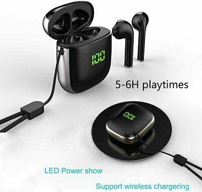 Wireless Bluetooth Headsets Earbuds Compatible With Apple iPhone AirPods 2 iPad