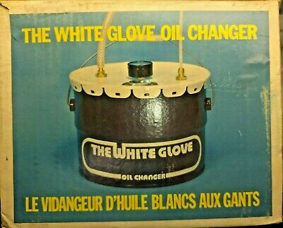 Vintage White Glove Oil Changer Tool Use New Old Stock 1981