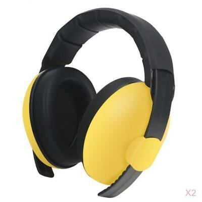 2xChild Kids Noise Earmuffs Defenders Noise Reduction Protectors Muff Yellow