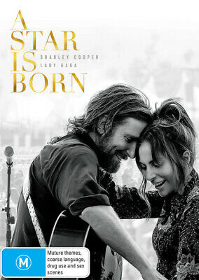 A Star is Born DVD | Bradley Cooper, Lady Gaga | Region 4