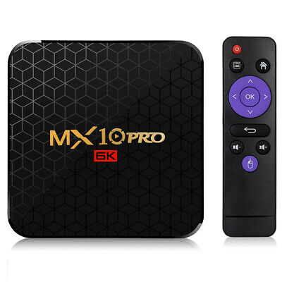 MX10 Pro 6K UHD TV Box Android 9.0 Quad Core4GB+64GB WiFi HDMI Media Player EU