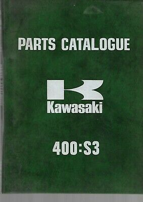 KAWASAKI 400-S3 - PARTS CATALOGUE des Pièces parts catalogue PARTS LISTS