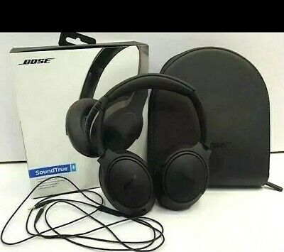 Bose SoundTrue Headphones Around Ear II Black Apple Device Case Retail Box Works
