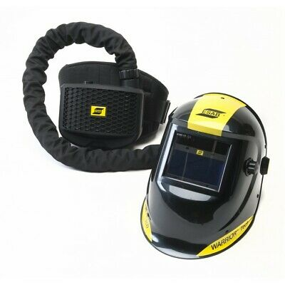 Esab Warrior Air fed Welding Headshield c/w PAPR Filtration Backpack