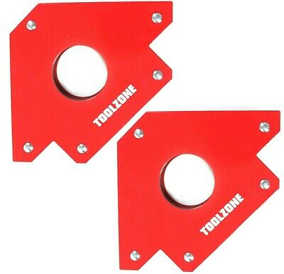 2x 75lb Welding Magnet Large Heavy Duty Right Angle Square Holder Soldering New