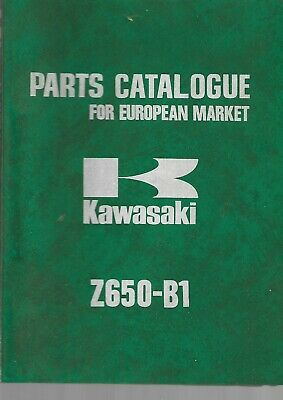 KAWASAKI parts list Z650-B1   parts catalogue catalogue pieces détachées