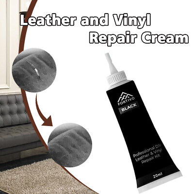 Black Leather and Vinyl Repair Kit - Furniture/Couch/Car Seats/Sofa/Jacket 25g