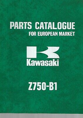 KAWASAKI parts list Z750-B1 B2   parts catalogue catalogue pieces détachées