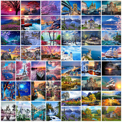Scenery DIY Paint By Numbers Kit Digital Oil Painting Artwork Wall Home Decor