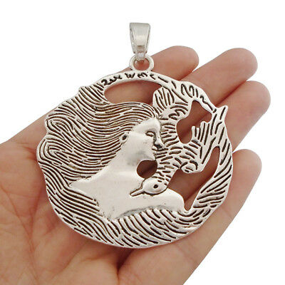 DIY 6pcs Spiral Goddess Charms 5x20mm  Tibetan Silver Pendants Jewelry Findings