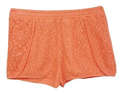 NEW! M&S Girls Coral Pink Embroidery Broderie Anglaise Lace Shorts Age 5-6 Years