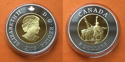Canada 8 dollars 2005 ounces of silver Chinese worker UNC ,  excellent condition