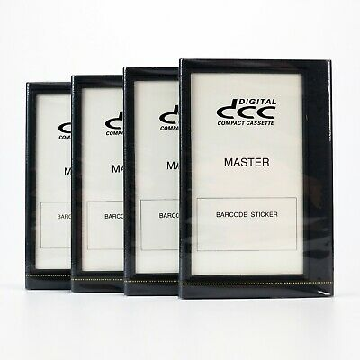 4 x Blank DCC Master Tapes Digital Compact Cassette - Factory Sealed - Very Rare