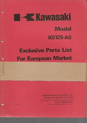 KAWASAKI parts list KE125-A5 parts catalogue catalogue pieces détachées