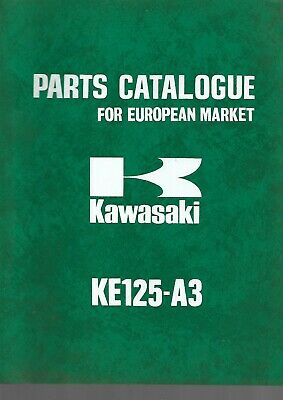 KAWASAKI parts list KE125-A3  parts catalogue catalogue pieces détachées