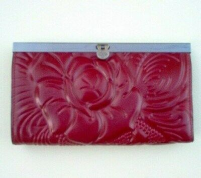 NWT Patricia Nash Burnished CAMETTI Italian Leather Wallet Tooled FLORENCE A12