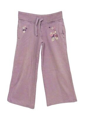 Girls Next Purple Lilac Floral Applique Comfy Casual Jogger Trousers Age 4 Years