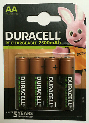 Duracell Rechargeable Batteries AA 2500mAh NiMH PreCharge HR6, SAME DAY DISPATCH