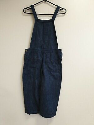 E391 Girls Next 985-000-134 Blue Cotton 3/4 Dungarees Age 11 Years W28 L16.5