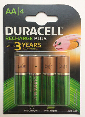 Duracell Rechargeable Batteries AA 1300mAh PLUS Pre Charged NiMH, SAME DAY POST