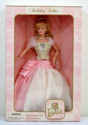 BIRTHDAY WISHES BARBIE DOLL  1998 Mattel FIRST in Series Collector Edition NRFB