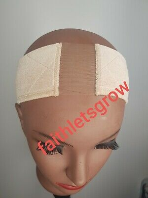 New arrival Velvet Wig Grip Wig Band with adjustable strap beige, with lace