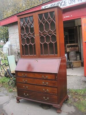 Antique Bureau Bookcase. Desk..