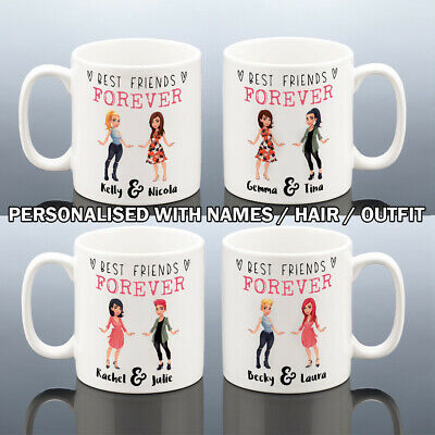 BEST FRIENDS MUG Personalised Birthday Gift Thank you Friend Cup Valentines Gift