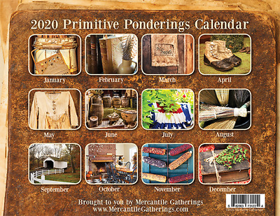 2020 Calendar Primitive Ponderings~Country Farmhouse-Style Antiques