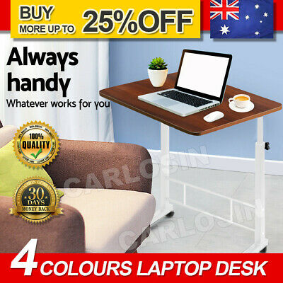 Artiss Laptop Desk Computer Table Stand Mobile Adjustable Portable Wooden Bed