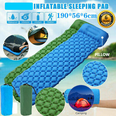 Inflatable Sleeping Mat Camping Air Pad Ultralight Roll Bed Mattress With Pillow