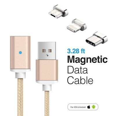Magnetic USB Charging Charger Cable For Type-C Micro iphone samsung phone Lead