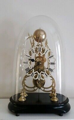 Good Victorian Skeleton Clock passing on the Strike c1850