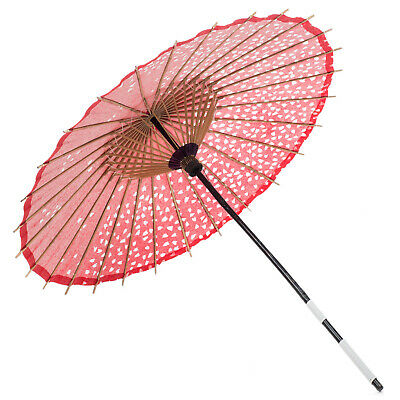 Red Cherry Blossom Paper Japanese Parasol